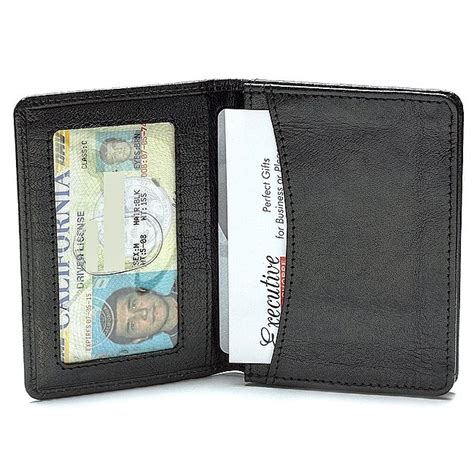 printable id card for wallet leather credit card wallet w id window executive gift