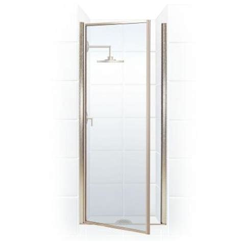 Homedepot Shower Doors by Coastal Shower Doors Legend Series 27 In X 68 In Framed Hinged Shower Door In Brushed Nickel