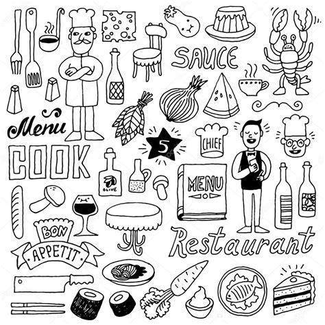 doodle bug foods restaurant doodle set stock vector 169 sashatigar 62852223