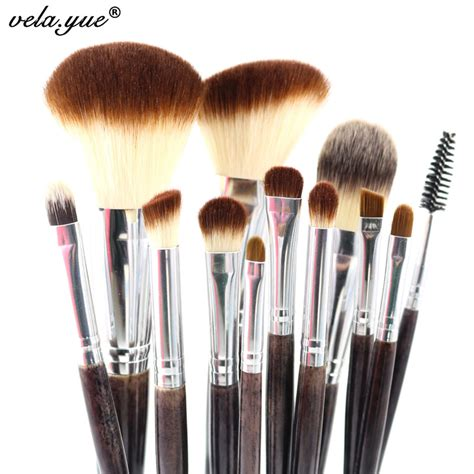 Makeup Brush Kit professional makeup brush set 12pcs high quality makeup tools kit violet
