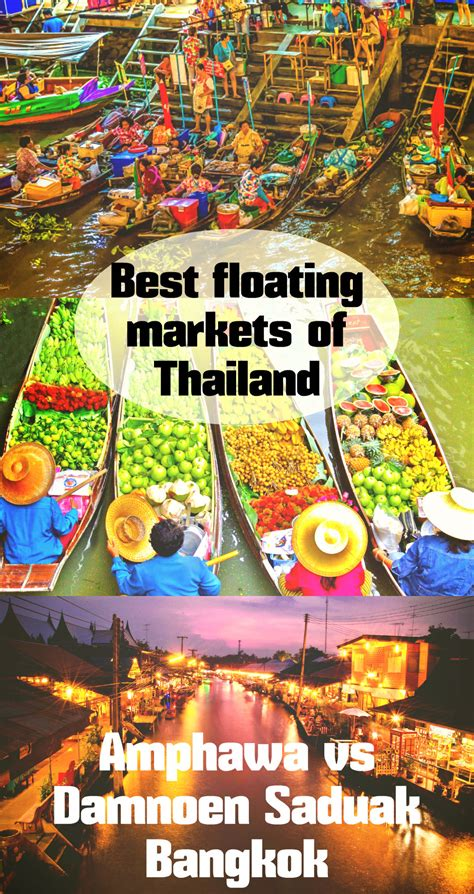 floating markets  bangkok amphawa  damnoen