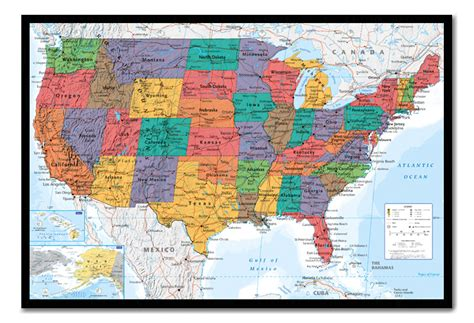 us map on cork board usa united states map wall chart framed cork pin board