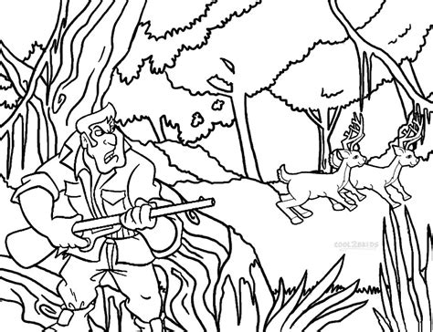 imgs for gt deer hunting coloring pictures