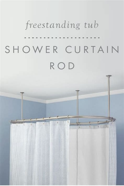 shower curtain rod for freestanding tub oval solid brass shower curtain rod beautiful curtain