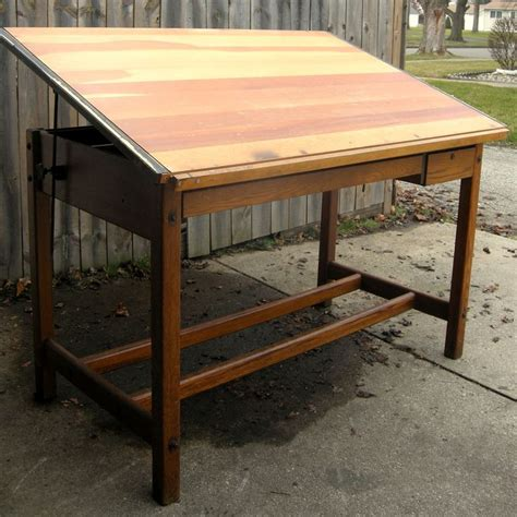 Vintage Wood Drafting Table Beautiful Solid Wood Vintage Drafting Table Lovely Workmanship Grea