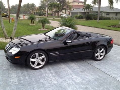 convertible mercedes black find used convertible shiny black mercedes 2005 sl500