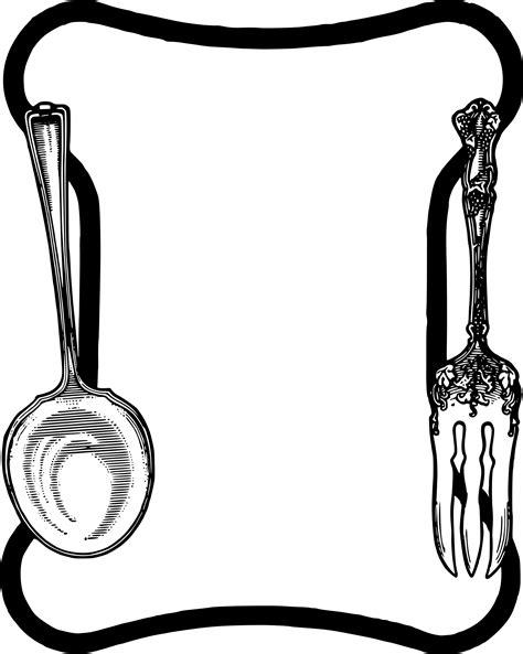 Jual Sendok Garpu Vektor by Clipart Spoon Fork Frame