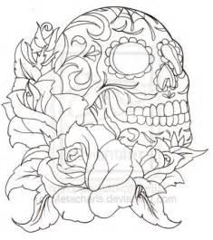 Pics Photos  Color Sugar Skull Tattoo Designjpg Picture sketch template
