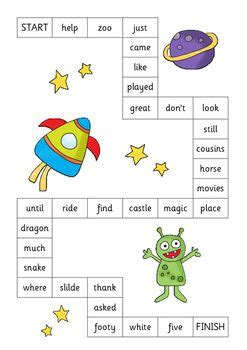 Sight Word Space Station Board 10 best oxford word list images on literacy centers word work and sight words