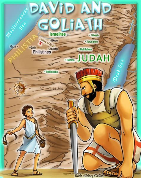slew foot in the bible discover where david slew goliath bible maps for kids