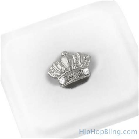 silver king crown silver king crown cap tooth grillz single tooth grillz