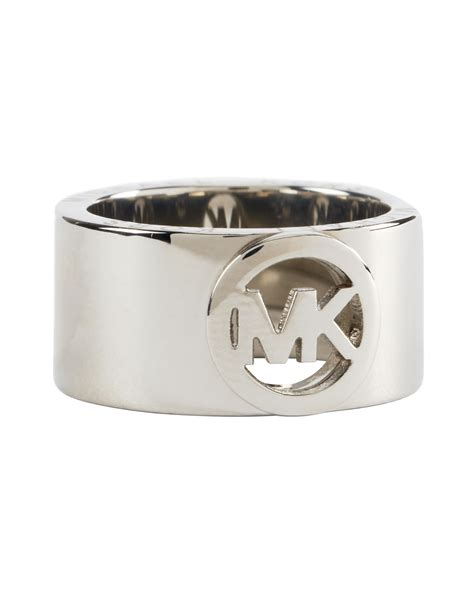 michael kors fulton ring silver color in silver lyst