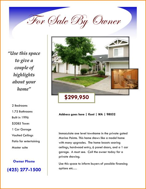 home for sale by owner flyer template for sale flyer template authorization letter pdf