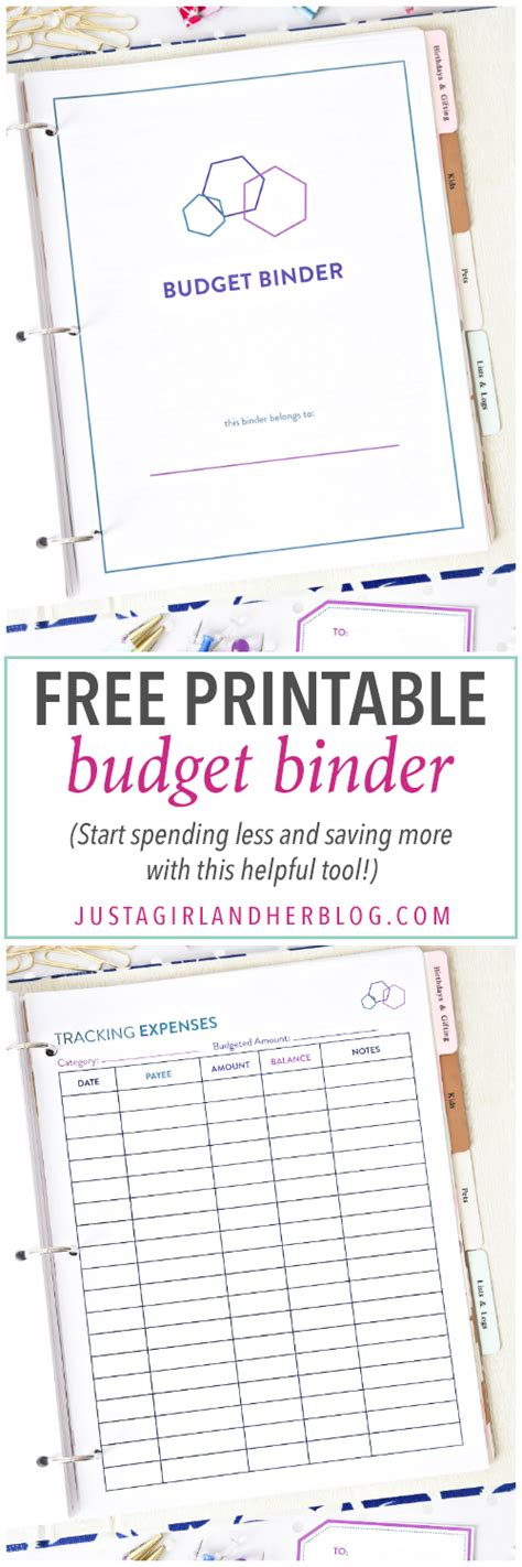 free printable kitchen planner the 2017 budget binder just a girl and her blog