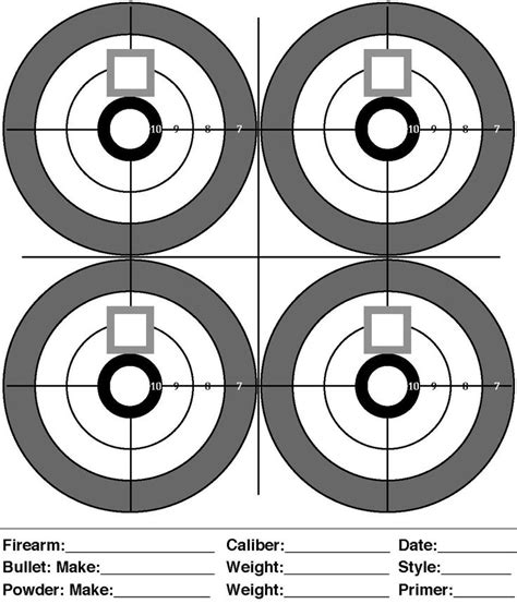 printable rifle pistol targets printable targets for shooting practice midway pistol