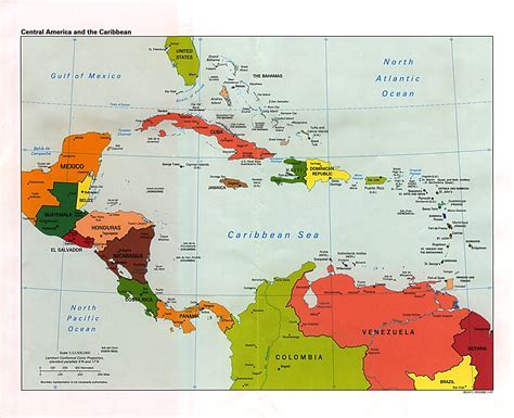 detailed maps of central america