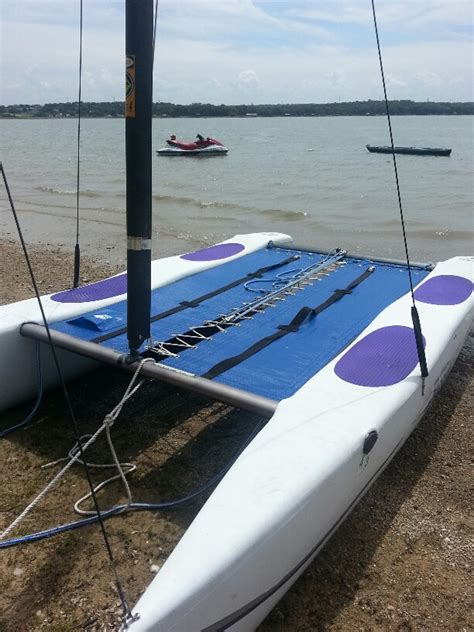 hobie catamaran ebay hobie wave club cat catamaran troline blue mesh ebay