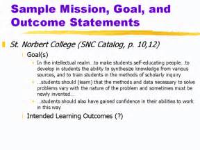 Goal And Objective Statements Sample Goal Statement Thelongwayup Info