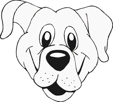 free dog face template or coloring page face template