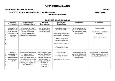 planificacion curricular de 2016 planificacion curricular 2016 primaria planificacion