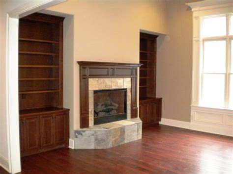 Raised Hearth Fireplaces by Custom Built Ins Mantel With Slate Raised Hearth Fireplace