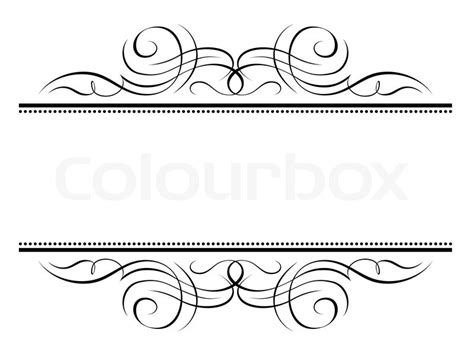 clipart per word calligraphy vignette ornamental penmanship decorative