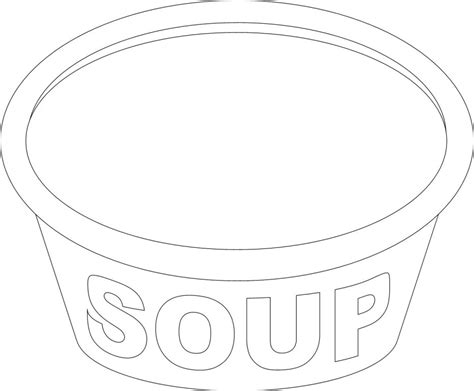 soup template soup coloring pages az coloring pages