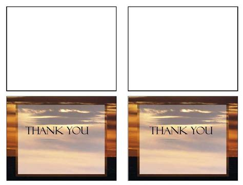thank you card template word 2003 funeral templates funeral thank you card brown sunset