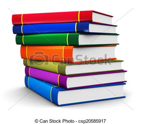 clipart libri clipart of stack of color hardcover books creative