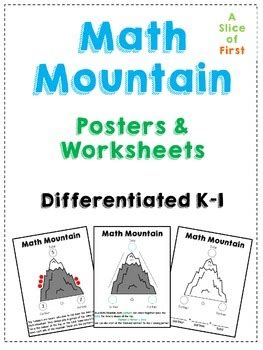 math mountain worksheets math mountain posters worksheets by a slice of tpt