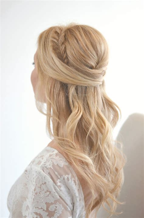 wedding hairstyles half up half down with braid and veil 20 awesome half up half down wedding hairstyle ideas