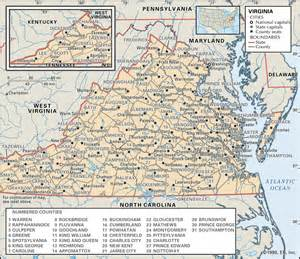 map of virginia and carolina with cities state and county maps of virginia