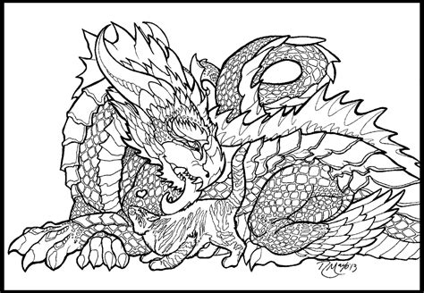 free printable coloring pages for adults advanced dragons dragon and fluffykins lineart by rachaelm5 on deviantart