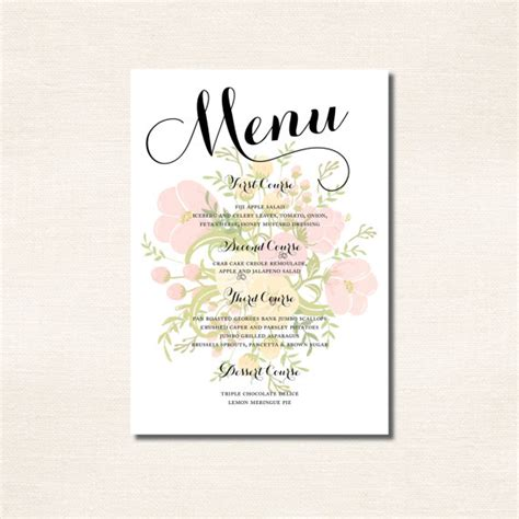 Classic Calligraphy Menu For A Wedding Rehearsal Dinner Baby Shower Or Party 2230637 Weddbook Wedding Shower Menu Template