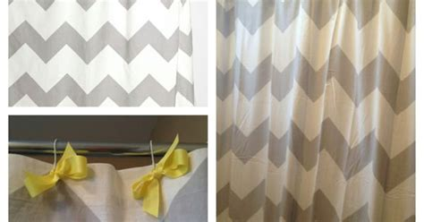 color changing shower curtain boys bathroom grey chevron shower curtain with yellow