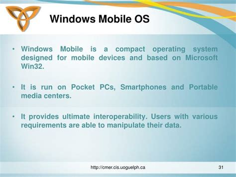 windows mobile operating system ppt mobile operating systems powerpoint presentation
