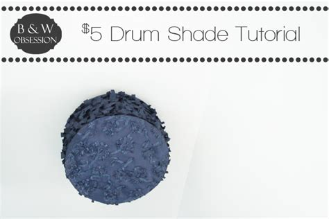 tutorial space drum black and white obsession 5 drum shade tutorial