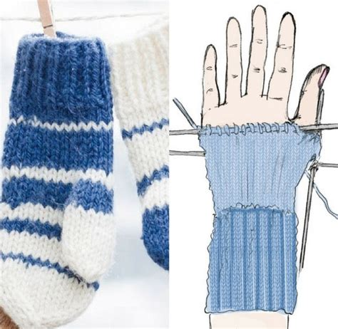 simple pattern for knitting mittens easy knit mittens for any size hands sewing blog
