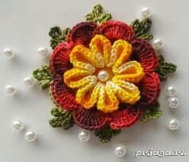 цветы на шапку крючком схемы