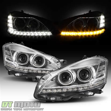 mercedes headlights at facelift fit 2007 2009 mercedes w221 s550 s class