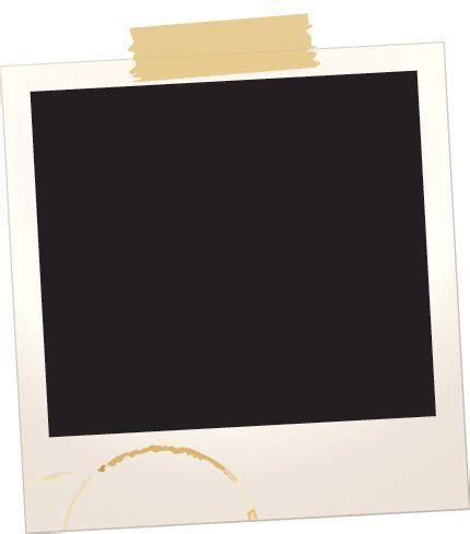polaroid paper polaroid frame with scotch vector
