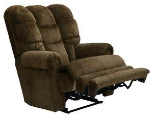 catnapper malone lay flat recliner with extended ottoman
