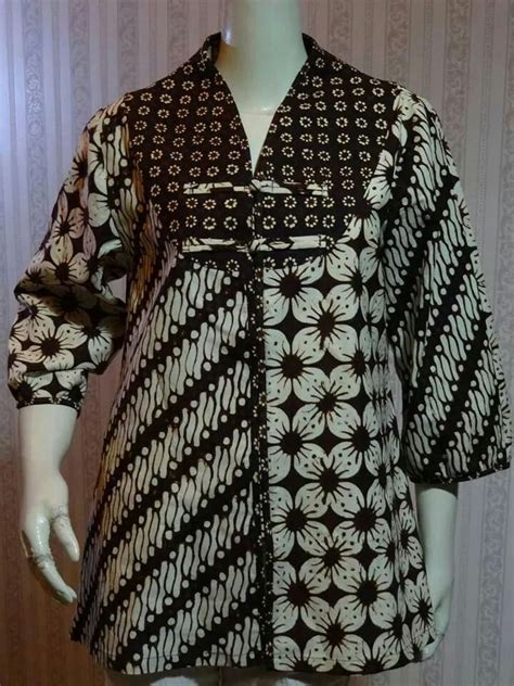 Hanum Blouse Blus Panjang Baju Atasan Top Busana Muslim Wanita 17 best images about batik on models jackets and casual