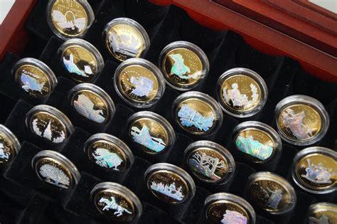 100 Original Temulawak Hologram Gold Embose holographic gold plated statehood quarters collection 25 coins original ebay