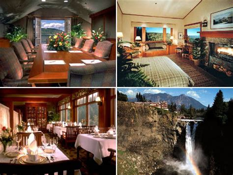 Salish Lodge Dining Room by Ceremony Carnation Wa Usa Wedding Mapper