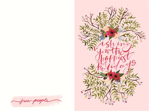 Holiday Gift Cards - free printable holiday cards gift tags wrapping paper