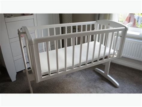 swinging crib with mattress mothercare white swinging crib mattress never used