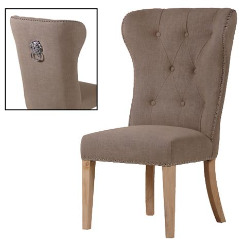 Ring Back Dining Chair Reeves Beige Buttoned Ring Back Dining Chair