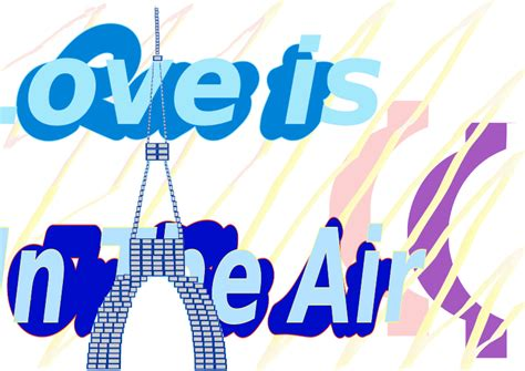 imagenes love is in the air clipart e card love is in the air la tour eiffel tower