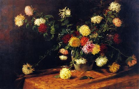 classic paint mathias j alten chrysanthemums oil painting reproduction